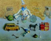 Kind, Ölmalerei, Malerei, Geschichte
