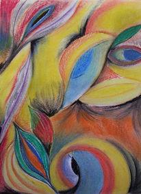 Pastellmalerei, Farben, Abstrakt, Fromen