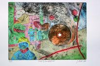 Grafik, Ölmalerei, Spurensicherung, Evidence