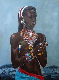 Krieger, Samburu, Tanz, Kenia