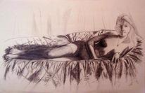 Portrait, Grafit, Bleistifte, Zeichnung
