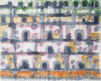 Malerei, Stadt, 1957, Almeria