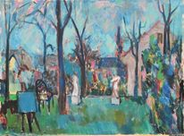 Impressionismus, Expressionismus, Landschaft, Gemälde