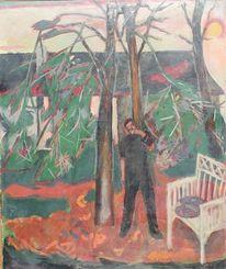Impressionismus, Gemälde, Ateliergarten, 1945