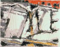 Malerei, Holocaust, Landschaft, Impressionismus