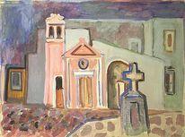 Impressionismus, Expressionismus, Ischia, Landschaft