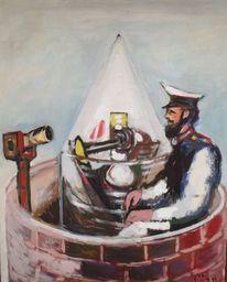 Wächter, 1949, Gemälde, Malerei