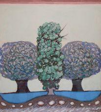 Park, Boppard, 1977, Gemälde