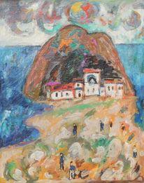 Stadtansicht, Expressionismus, 1953, Italien
