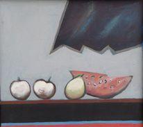 Apfel, 1975, Stillleben, Birne