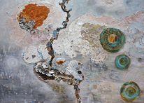 Abstrakt, Traum, Acrylmalerei, Holz