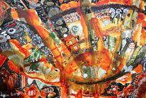 Malerei, Acrylmalerei, Karton, Malerei ii