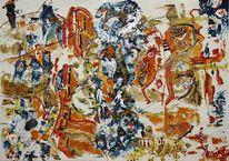 Mythos, Karton, Abstrakt, Acrylmalerei