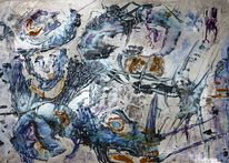 Farben, Abstrakt, Acrylmalerei, Mythos