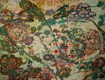 Holz, Abstrakt, Acrylmalerei, Malerei