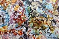 Farben, Abstrakt, Traum, Acrylmalerei