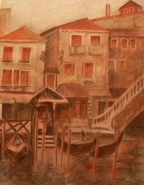 Malerei, Wasser, Stadt, Oberirsen