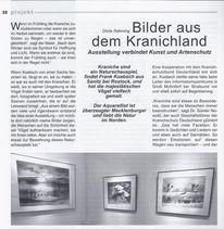Ausstellung, Kranich, Kranichland, Aquarellmalerei