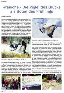 Aquarellmalerei, Zeitschrift, Vögel der glücks, Palette