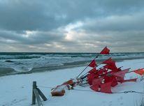 Strand, Rotbeflaggte, Winter, Winterlandschaft