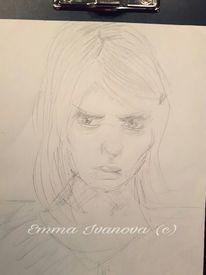 Selbstportrait, Zeichnung, Portrait, Bleistiftzeichnung