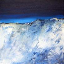 Landschaft, Blau, Alpen, Abstrakt