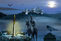 Mittelalter, Plakatkunst, Mythologie, Pferde