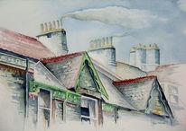 Ambleside, England, Malerei, Dach