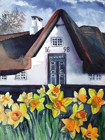 Bauernhaus, Landschaft, Haus, Friesenhaus