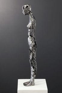 Skulptur frau metall, Figurativ, Figural, Weiblich