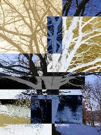 Digital, Landschaft, Digitale kunst,