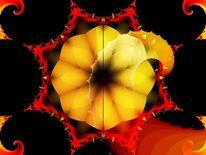 Dornenkrantz, Rot, Blumen, Digital