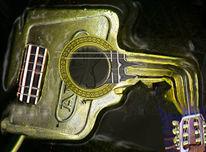 Gitarre, Schlüssel, Digital, Digitale kunst