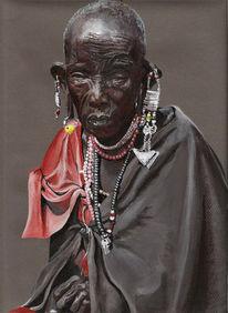 Malerei, Figural, Massai