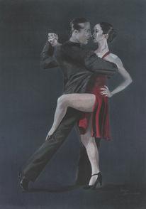 Zeichnung, Portrait, Zeichnungen, Tango