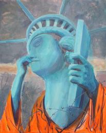 Gefangen, Guantanamo, Liberty, Malerei