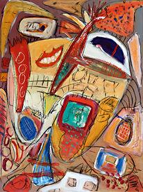 Abstrakt, Malerei, Alptraum