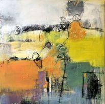 Sonne, Farbfeldmalerei, Gelb, Malerei