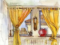 Stillleben, Malerei, Wohnung, Schlafzimmer