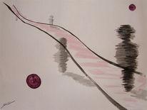 Acrylmalerei, Vergangenheit, Weg, Abstrakt