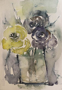 Aquarellmalerei, Grafik, Rose, Aquarell