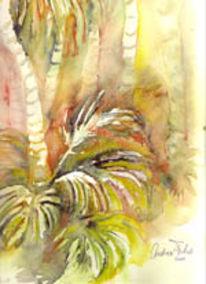 Landschaft, Florida, Aquarellmalerei, Regenwald