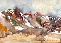 Landschaft, Malerei, Island