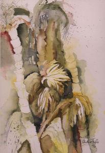 Urwald, Palmen, Figural, Malerei