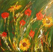 Stillleben, Gelb, Blumen, Rot