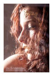 Klarsichtfolie, Portrait, Gold, Frau