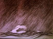 Befreiung, Tod, Fallen, Zeichnung