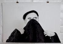 Portrait, Gucken, Stehen, Kappe