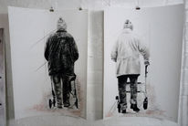 Straße, Hose, Alter mann, Alter mensch