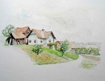 Luft, Bauernhof, Landschaft, Steiermark
